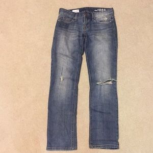 GAP 1969 Real Straight Distressed Jeans 25p